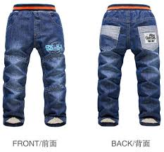 Us 11 59 25 Off Rk 108 Brand Winter Boys Girls Jeans Thick Warm Children Pants K K Rabbit Boys Trousers Trousers For Boys Girls Retail In Jeans From
