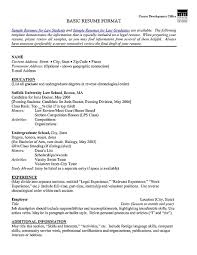Cover Letter Font Size Template For Basic Resumes Templates Digpio