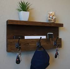 Rustic Entryway Coat Rack Modern Rustic Entryway Coat Rack Shelf and Mail Phone Key 89