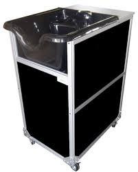 3 self conned portable shoo sinks