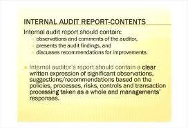 Internal Audit Findings Template Naomijorge Co