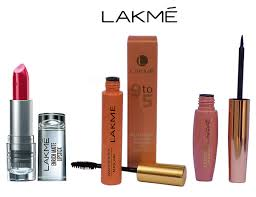 lakme 9 to 5 waterproof eyeliner with maa enrich matte finish lipstick makeup kit 24