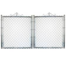 metal chain fence. Wonderful Chain Galvanized Steel ChainLink Fence Gate Intended Metal Chain A