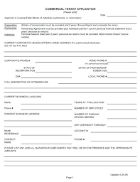Free Rental Application Template Parking Contract Space Lease ...