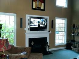 tv over fireplace too high above fireplace too high mounting above fireplace large size of wall