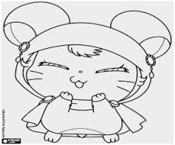 Hamtaro Coloring Pages Unique Hamster Teaching Kids Animals