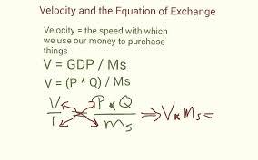 equation of exchange the velocity money