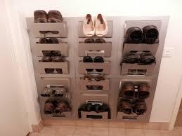 image of wall mounted shoe rack design