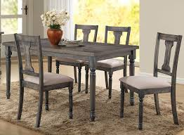 amazing olivia weathered grey finish table set grey dining table set