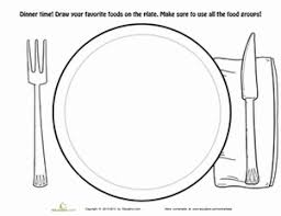 Small Picture Dinner Plate Coloring Page Coloring worksheets Worksheets and