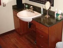 handicapped accessible bathroom sink counter. more handicap accessible bathroom tips. bathroom-counter handicapped sink counter e