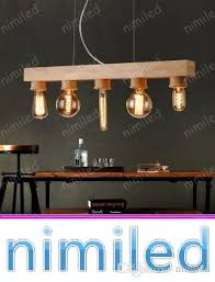 nimi1135 designer wood chandelier use edison bulb nordic retro vintage lighting restaurant bar cafe art wooden pendant lamps lights kitchen pendant lighting