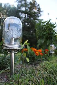 solar powered mason jar lights eco friendly mason jar outdoor path light single stainless steel accent upcycled bootsngus lamp design