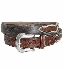 nocona mens cowboy prayer concho belt brown 114819 jpg