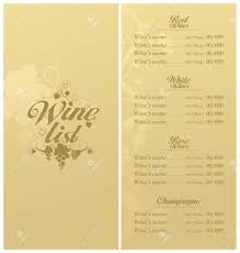 Free Wine List Template Wine List Menu Card Design Template Royalty Free Cliparts Vectors 5