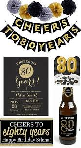 cheers to 80 years is an easy but impressive 80th birthday celebration theme