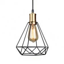 black diamond wire frame hanging light