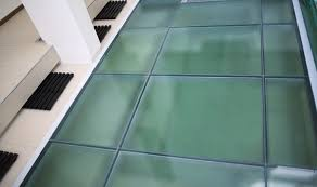 new fire rated glass floor system from tgp combines life safety clear glass computer floor tile