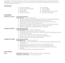Hospitality Resume Sample Best Resume Templates Entry Level Executive Housekeeper Resumes