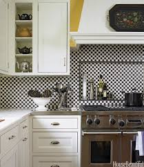 ... Ideas Kitchen, Awesome Black And White Square Traditional Ceramic Kitchen  Tile Varnished Design: Glamorous Kitchen Kitchen, Kitchen Backsplash ...