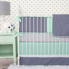 blue gray and green crib bedding designs