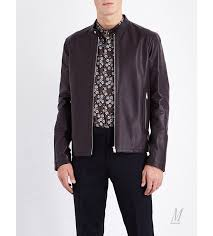 leather jackets paul smith men paul smith stand collar leather jacket burdy p115k
