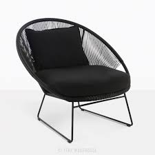 black lounge chair. Perfect Black Natalie Black Retro Relaxing Chair On Lounge D