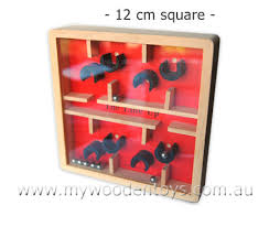 Wooden Maze Game With Ball Bearing Beauteous Labyrinth Ball Game Maze Red At My Wooden Toys