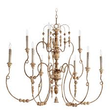 french country lighting. quorum lighting salento french umber chandelier country t