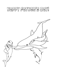 Small Picture Sharks Tale And Fathers Day Dolphin Coloring Page H M Coloring