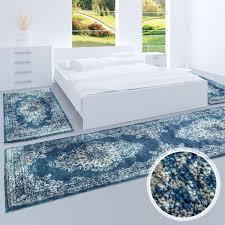 Amazonde Bettumrandung Teppich Läufer Flachflor Mit Klassischen