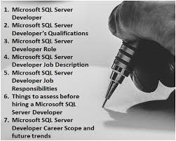 Microsoft Job Description Microsoft Sql Server Developer Role Job Responsibilities Description