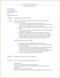 Resume Samples For Senior Accounting Professional Resumes Sample