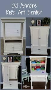 my repurposed life old armoire repurposed kids art