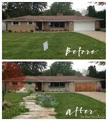 Remodelaholic reader: A reader on another blog asked what she could do to  her… | Ranch house exterior, House makeovers, Curb appeal