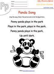 letter p alphabet song worksheet