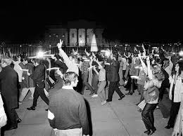 peace marchers carrying candles pass the white house during the hour long procession which ended the vietnam moratorium day activities in washington at