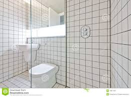Tiled Walls contemporary bathroom with retro white tiled walls stock image 2452 by xevi.us
