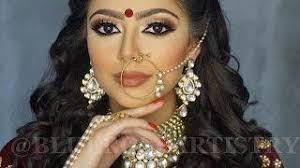 indian bollywood south asian bridal makeup start to finish blueroseartistry