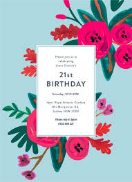 Party Invitations Birthday Party Invitations Creative Designs Print Types