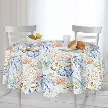 casual living by newbridge coastal settings indoor outdoor polyester table linens 70inch round tablecloth b07c7r2d86