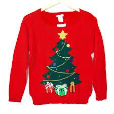 Christmas T Shirts Led Lights Led Light Up Christmas Tree Tacky Ugly Holiday Sweater The