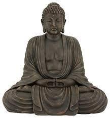 tall japanese sitting buddha statue