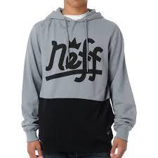 Zumiez Size Chart Neff Brooks Grey Black Pullover Hoodie Fashion