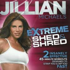 jillian michaels extreme shred cardio dvd video exercise kickbox jui jitsu yoga gaiam