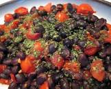 black beans and tomatoes   hot and spicy