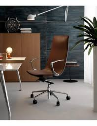 amelie executive office chair brown leather by quinti sedute