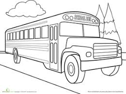 Small Picture Color The Car School Bus Coloring Page Education School Bus