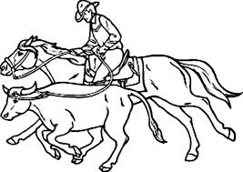 Small Picture An Expert Cowboy Catch Bull Coloring Page An Expert Cowboy Catch
