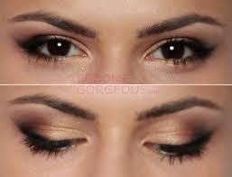 selena gomez cat eye makeup finished